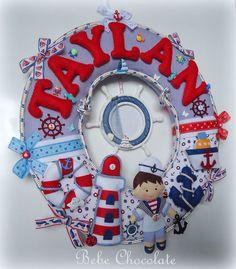 felt sailor, felt pirate, keçe korsan kapı süsü, deniz temalı kapı süsü, bebek…
