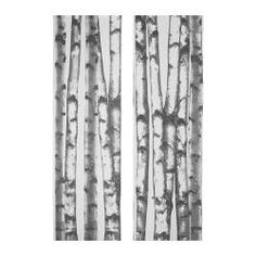 I love these birch tree curtain panels.  Have been in love with this print since I started watching Once Upon a Time and the evil queen has this wallpaper in her office.
