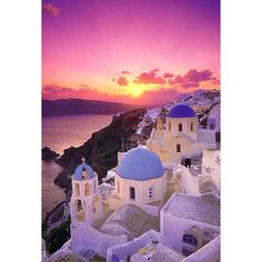 A Paradise in the Mediterranean. Santorini ❤ liked on Polyvore featuring backgrounds, pictures, greece, pics and photos