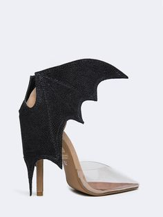 - Brand: Jeffrey Campbell - Style: Pumps - Color: Black / Clear Nude - Material: Suede Upper, Leather Lining, Man-made Sole - Heel Height: 4""