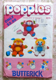 Popples Doll Sewing Pattern