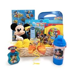 Mickey Mouse 11 inch plush  Mickey Mouse coloring book  Mickey Mouse night light  Mickey Mouse memory game  Mickey Mouse playing cards   Mickey Mouse play pack  Mickey Mouse stickers  Mickey Mouse stickers  Mickey Mouse bounce ball  Mickey Mouse bubble  Colorful basket 12x6x4