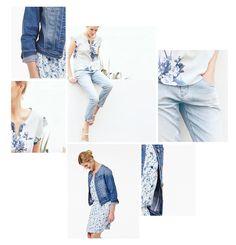 Summerblues: Denim Looks und Flower Prints - https://blog.opus-fashion.com/summerblues-denim-looks-und-flower-prints/