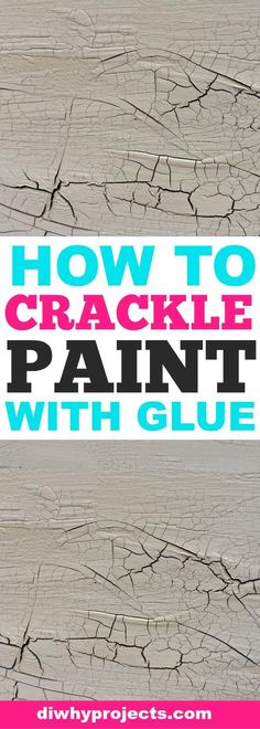 How You Can Make Paint Crackle With Glue is part of painting Ideas For Furniture - This tutorial shows how you can make paint crackle with glue It's an easy cost effective way that gives amazing results for a rustic finish everytime Crackle Paint With Elmers Glue, Make Chalk Paint, How To Make Paint, Chalk Paint Furniture, Paint Stain, Paint Finishes, Crackle Furniture, Glue Painting, Crackle Painting