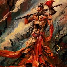 Parshuram by Abhishek Singh Shiva Art, Krishna Art, Hindu Art, Hindu Dharma, Lord Vishnu Wallpapers, Shiva Wallpaper, Lord Shiva Painting, Durga Goddess, Hindu Deities