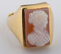 Yellow Gold Cameo Ring for auction. Please see attached appraisal image for more information. Cameo Ring, Auction, Canada, Yellow, Rings, Gold, Jewelry, Jewlery, Bijoux