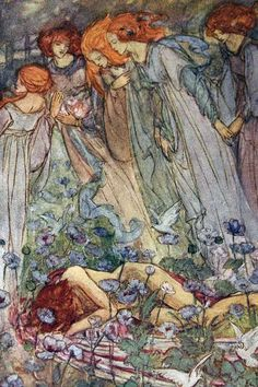 There is only one time when it is essential to awaken. That time is now.  — Buddha ...Illustration from Dream Land (1910) by Emma Florence Harrison