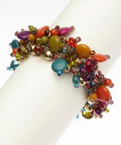 Gold & Pink Cinco de Mayo Stretch Bracelet | zulily