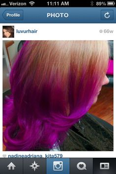 """Magenta Ombre. Punk colors. Follow me on Instagram """"LUVURHAIR"""""""