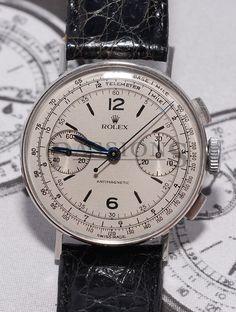 "Rolex rare C.1940s ""Anti-magnetic"" Chronograph in Steel"