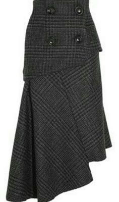 Pedro del Hierro Madrid Camilo asymmetric wool skirt perfect for winter Moda Chic, Outfit Trends, Mode Vintage, Wool Skirts, Mode Outfits, Mode Inspiration, Refashion, Dress Skirt, Style Me