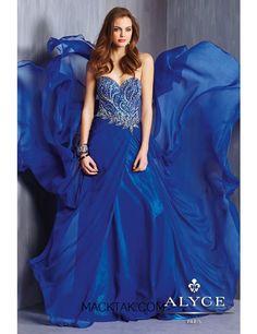 Alyce 6309 Dress - Sparkling chiffon prom dress with beaded bodice by Alyce Paris #macktak #prom2015 #alyce #dresses #promdresses #nyc
