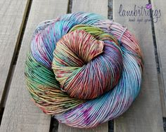Ewetopia Sock 4 ply, Hand dyed yarn, Superwash merino wool,  438 yds/ 100g: Graffiti. by Lambstrings on Etsy