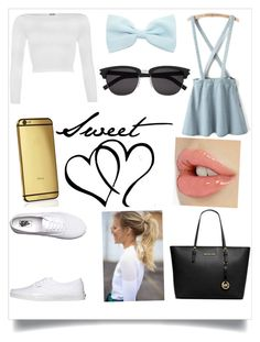 Sweet by fashion-fave on Polyvore featuring WearAll, Vans, MICHAEL Michael Kors, Goldgenie and Yves Saint Laurent