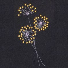 Embroider this simple yet pretty Dandelion design to embellish a placemat with matching napkins. With only 3 color changes and low stitch count this is a must have to any embroiderer`s design archive.  You Receive: 2 x Designs (1 for each hoop size)  Hoop Size: 4*4 Hoop x 1 5*7 Hoop x 1