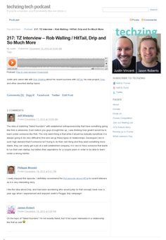 TZ Interview Rob Walling / HitTail, Drip and So Much More Love this podcast: Two guys bootstrapping. This week they talk to the Legend of Bootstrapping that is Rob Walling. Startups, Interview, Rest, Guys, Boyfriends, Boys, Men