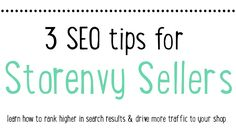 One thing people ask me alot is how to improve their SEO (Search Engine Optimization) on Storenvy. Improving your SEO not only helps you rank higher in searches in the Storenvy marketplace but als...
