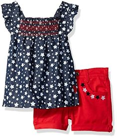 15338164dad U.S. Polo Assn. Girls Fashion Top and Short Set Fashion Top