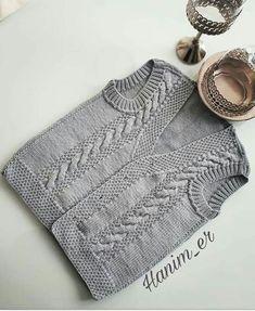 Guten Ramadan an die Hekes … Ja yelegimiz auf Garn Shish 90 … … - Stricken Baby Knitting Patterns, Knitting Designs, Free Knitting, Crochet For Kids, Diy Crochet, Crochet Baby, Cute Gifts For Friends, Ramadan, Knit Vest Pattern