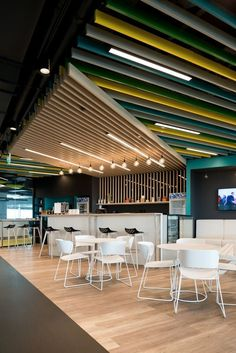 Arc chairs from Sandler Seating at Adidas HQ in Moscow.. Office, Workplace, Interior, Furniture, Seating.