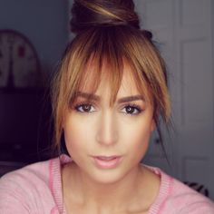 Create fake bangs out of your own hair!