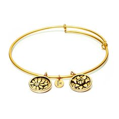 Chrysanthemum Bangle from the Flourish Collection by Chrysalis
