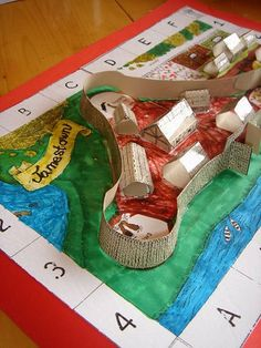 This Jamestown diorama could be created by the students to model what the colony looked like. It could also be used as an extension math activity where the students had to calculate the surface area of the buildings.