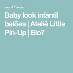 Baby look infantil balões   Ateliê Little Pin-Up   Elo7
