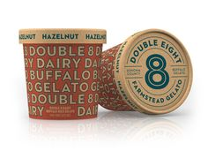 Double 8 Dairy Gelato — The Dieline