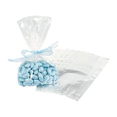 Clear Gift Bags - OrientalTrading.com $6.25 for 50 pieces // could totally use these if we go with the monogram iced cookie favor! think the dimensions would be perfect! :)