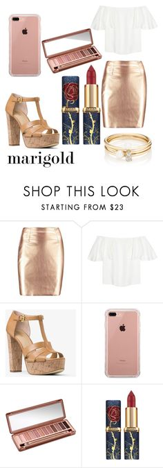"""""""marigold"""" by saraasecci on Polyvore featuring Valentino, MICHAEL Michael Kors, Belkin, Urban Decay and Loren Stewart"""