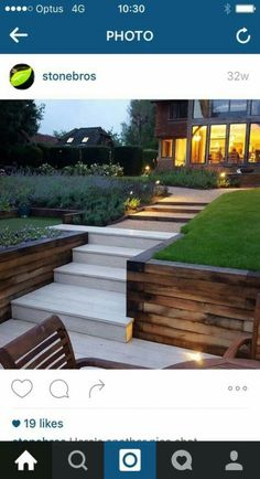 Landscaping modern front retaining walls 69 Ideas for 2019 .Landscape Design Tips for Small YardsLimited outdoor space does not mean you are limited with design ideas. Small yards have Garden Retaining Wall, Sloped Garden, Sleeper Retaining Wall, Retaining Wall With Steps, Landscape Walls, Landscape Design, Landscape Artwork, Landscape Drawings, Winter Landscape