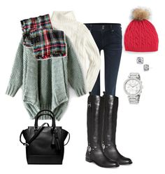 """""""12.16.16"""" by lccalifornia ❤ liked on Polyvore featuring Hudson Jeans, J.Crew, Talbots, Merona, Kate Spade and Michael Kors"""