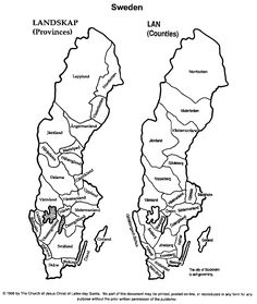sweden map coloring pages - photo#8