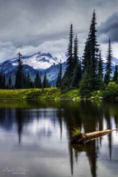 Tipsoo Lake - Washington What I would do to go hiking and camping in the Mountains right now....