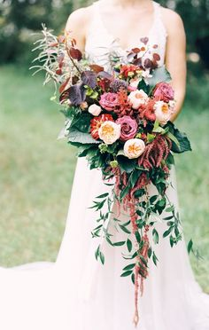 Featured Photographer: Justine Milton Photography; Chic and unique fall colored wedding bouquet