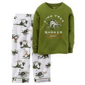 Note: To help keep children safe, cotton pjs should always fit snugly. In soft cotton and fleece, he'll roam with the dinos in his dreams.<br>