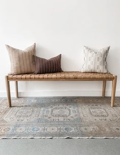 Foyer Bench, Bench Decor, Bench Furniture, Living Room Bench, Bench In Bedroom, Master Bedroom, End Of Bed Bench, Dining Bench With Back, Diy Woven Bench