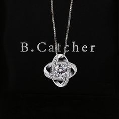 be20c1bcb B.Catcher Women Necklaces Sterling Silver Cubic Zirconia Pendant Gemini  Necklace: Amazon.co