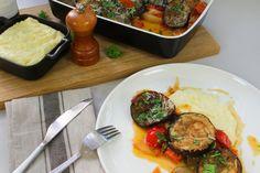 Aubergine med potetpuré