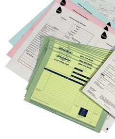 #NCR or carbonless pad printing for duplicate or triplicate pads. NCR pads are still a useful tool for delivery notes, invoicing and job tickets. http://www.quicklinks.ie/ncr-6-784.htm