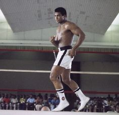Ali in the ring I can stay Till I'm old and grey Because I know how to hit and dance away  #muhammadali #boxing #ali