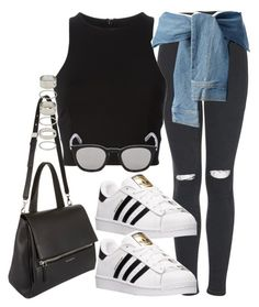 """""""Sin título #829"""" by osnapitzvic ❤ liked on Polyvore featuring Topshop, T By Alexander Wang, DKNY, Yves Saint Laurent, Givenchy, adidas and Forever 21"""