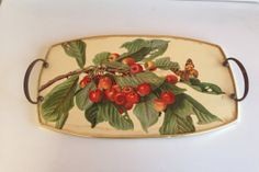 Vintage Cherry serving tray Made by Cotswood by LosChapines, $8.50
