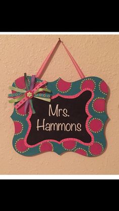 Personalized Teacher Name Sign by MillersCreekCrafts on Etsy