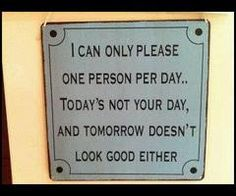 A sign every teller (who works at a bank) should have... LOL!