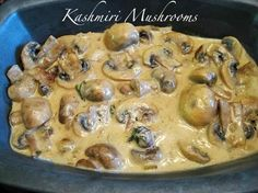 We love Indian food and they often have a mushroom curry on the buffet table at our favorite Indian restaurants. This is a recipe I've been cooking for some time now. In its original form, it app...