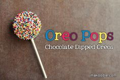 Oreo Pops with the Velata white Chocolate