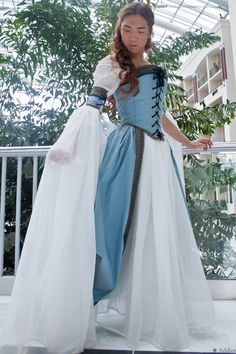Italian Courtesan Style Gown on Etsy, $505.64 CAD   I LOVE THIS.  Sadly, doesn't ship to Canada.  And I'd prefer it in dark green or crimson.