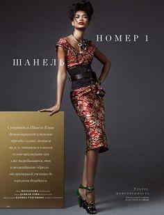 Chanel Iman By Matallana For Harper's Bazaar Kazakhstan September 2016…
